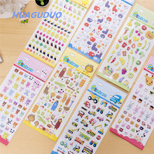United States best selling kids 3d cartoon animal bubble kawaii stickers wholesale personalised girls cell phone case stickers