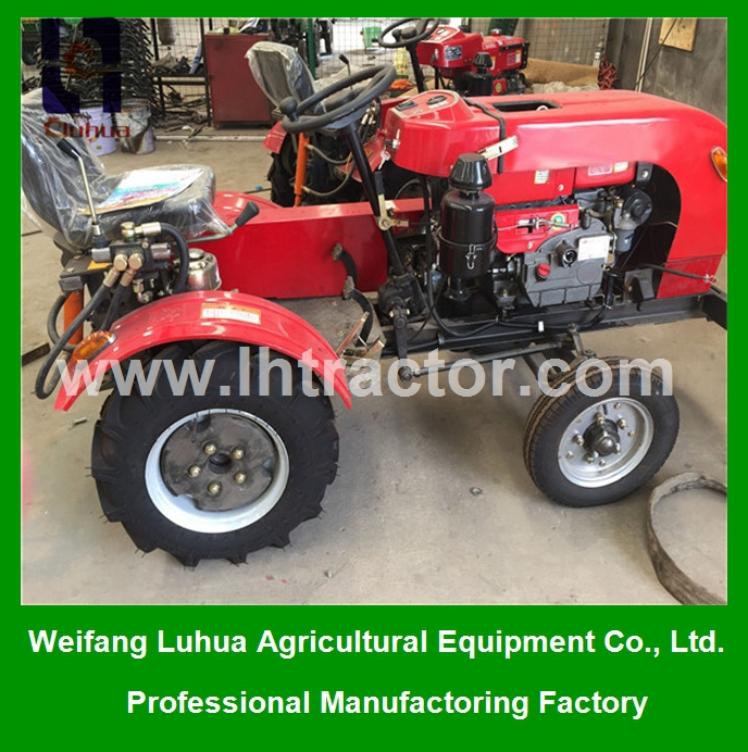 Best machinery 12hp four wheel mini tractors for farmland