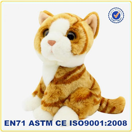 cute cat plush toy/Plush yellow cat/lifelike cat plush toy