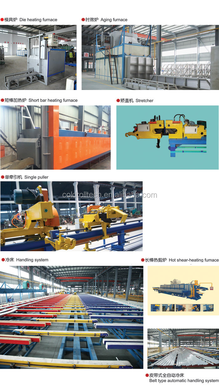 Aluminum Profiles Extrusion Machine Extrude Press with Auxiliary Equipment