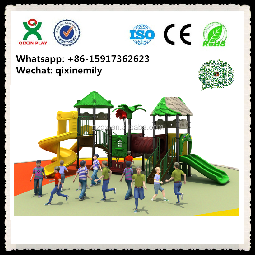 outdoor fitness playground equipment/ plastic outdoor playground/ kindergarten outdoor playground QX-031A