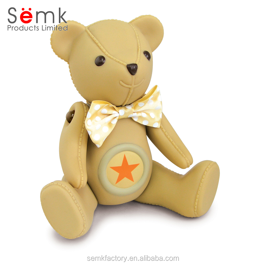 Gift items bear shaped piggy bank, save coin pvc piggy bank for Kids