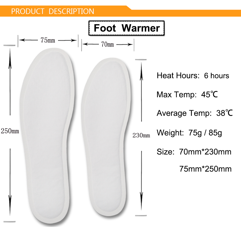 China Manufacturer 6 Hours Multi-fuction Portable Foot Warmer Hot Patch for Sports in Winter