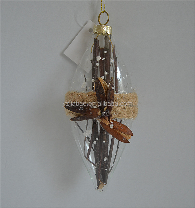 Creative christmas tree decoration ornaments with wooden handicraft flower from alibaba online