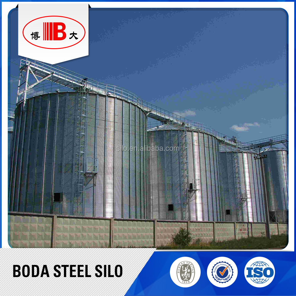 10000t Assembly Galvanized Grain Storage Steel Silo for longer time storage selling on competive price
