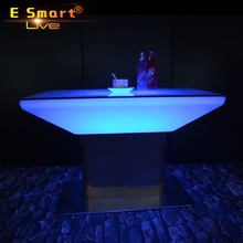 PE Materia Garden RGB led illuminated cocktail bar table for Party and event
