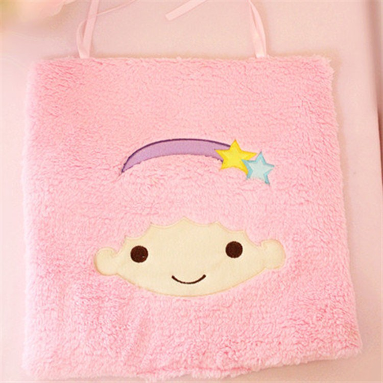 ice cream color cotton lovely little twin stars dream human face cushion plush toy