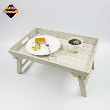 2016 top sale european style bed / sofa foldable wooden food serving tray with leg
