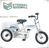"12"" bicycle cargo / reverse trike / delivery tricycles single speed kids three wheel bicycle with cheap price GW7013"