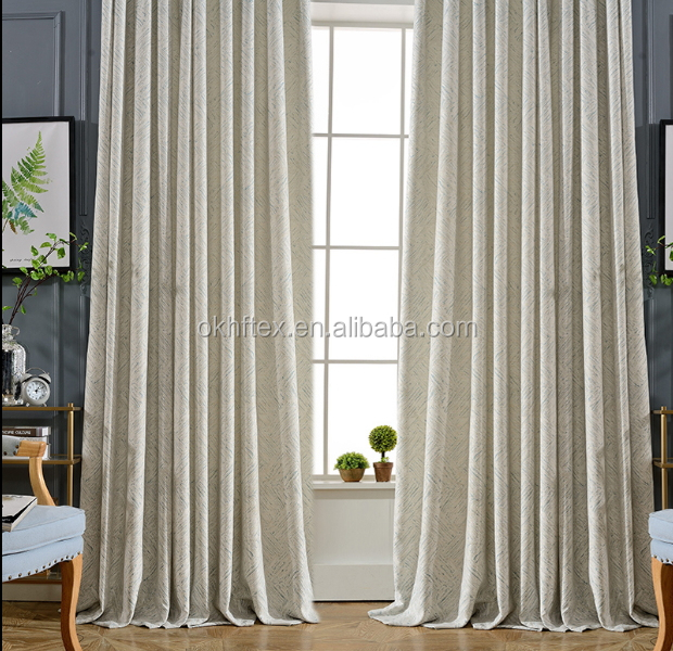 encryption single color string flame fire retardant curtain