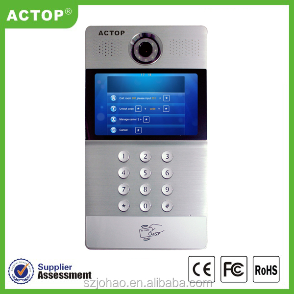 Multi apartment video door phone for building SIP intercom system