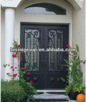 European Style Wrought Iron Double Entry Door BG90109(1)