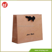 Top rated custom logo brown paper shopping bag brand name