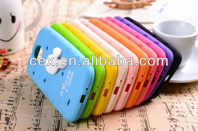 2013 NEWEST Design 10 Color Cute Cheese Soft Silicone Back Cover Case for Samsung Galaxy S3 i9300