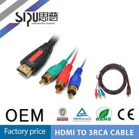SIPU wholesale 3rca female to hdmi cable best price rca cable to hdmi splitter cable supplier