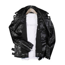 Best supplier top grade petite black real leather garment bike jackets for men sale