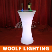 rechargeable led illuminated cocktail table for bar
