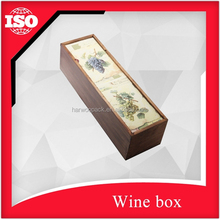 Good design Pine wood wine box with the slide lid