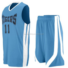 Wholesale cheap 100% Polyester basketball uniform philippines