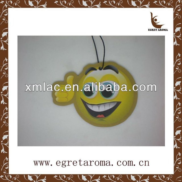 Smile face paper air freshener for car deco wholesales