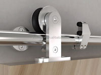 America style modern AISI 304 stainless steel oil rub bronze sliding wood barn door hardware