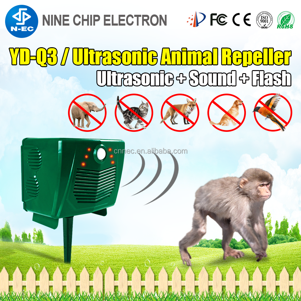 Home guard insect repellent device ultrasonic monkey repeller with battery