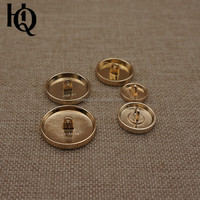 High-end gold & gun metal designer shirt and suit buttons with round shape