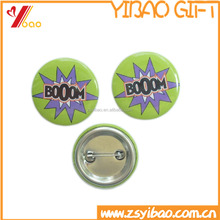 Promo printing custom logo carton tin Button/tin Badge for promotion gifts