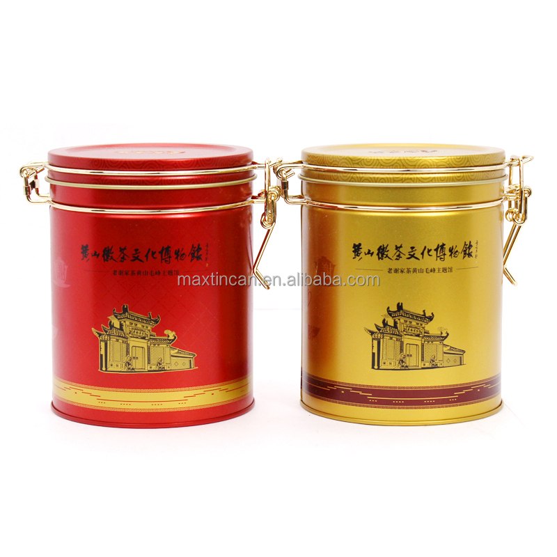 Customized small round shaped cookie candy tin box for gift hot tin package