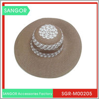 Hot-selling classic design summer straw hat for men