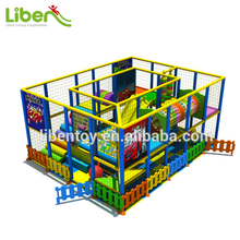 Kindergarten Used Cheap Indoor Kids Play Area Toys of Plastic Play House, Ball Pool, Swing Slide