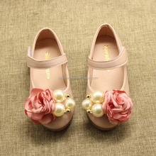 New Children Girls Princess Shoes Kids Pearls Wedding Party Dress Shoes