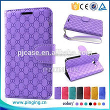 hot selling flip leather cover case for moto x play,wallet case for moto x play