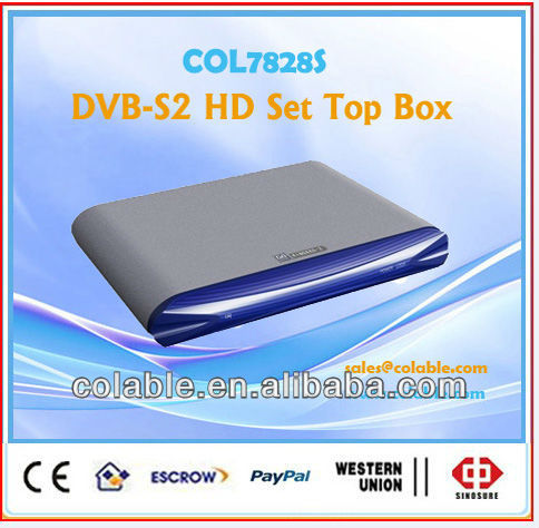 2013 best hd satellite receiver dvb-s2 mpeg4 hd El receptor. decoder box cable tv stb COL7828S