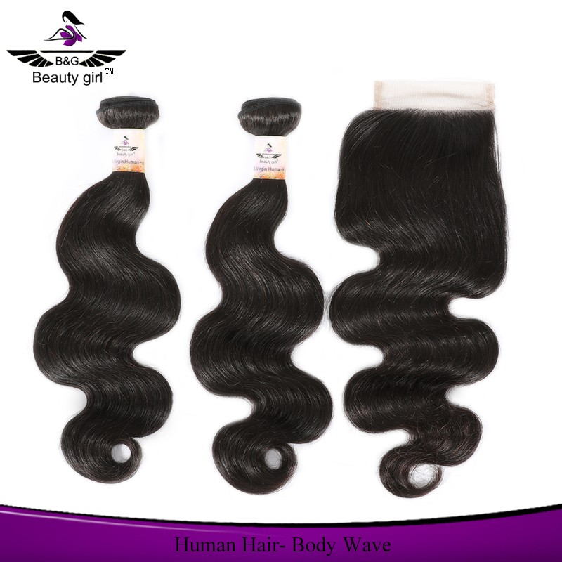 dhairboutique Brazilian body wave virgin hair bundles with lace closure infinity hair