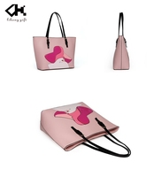 Hot new products professional candy color women PU tote bag brand