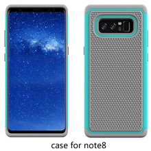 Silicone+TPU+PC Football Texture 3 in 1 Rugged Case For Samsung Note 8 Back Cover Case