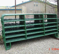 Euro iron galvanized looped feet corral panel fence for round pen