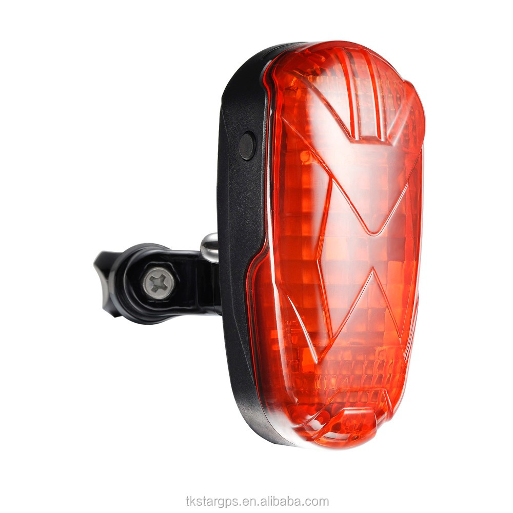 Long battery life GPS Tracker tk906 with free tracking system LED Bike Tail light GPS