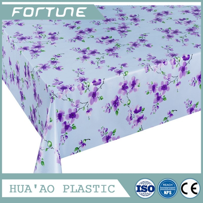 Waterproof oilproof soft vinly tablecloth transparent embossed pvc table cloth in roll