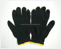Glove factory customize black cotton truck drivers driving gloves
