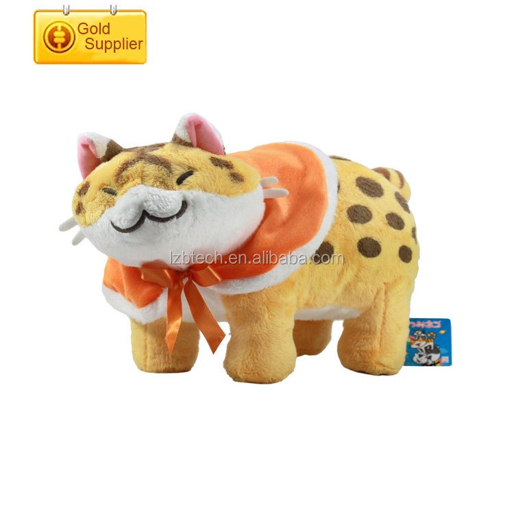 new design battery operated sleeping cat custom Embroidery moving plush cat