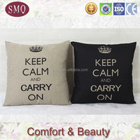 natural and black 2015 wholesale linen home decorative custom pillow case
