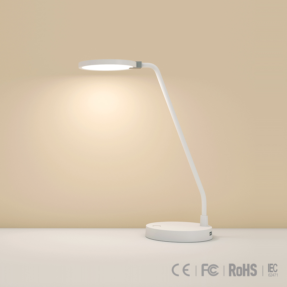 Wireless eye protection multifuctional desk lamp of 4000mAh <strong>battery</strong> with two USB charging ports EMC CE FCC ROHS customized brand