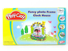 Funny house clock dough play toys, Kids educational play clay toy with EN71