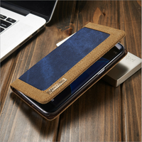Good quality book style flip stand pu leather cartoon case