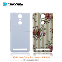 Hot Sale 3D Sublimation Phone Case Cover for Lenovo K5 Note, DIY Phone Case Cover