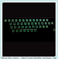 letter glow in the dark sticker for sticking keyboard