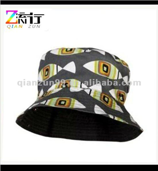 hot selling printed hat childrens reversible bucket hat