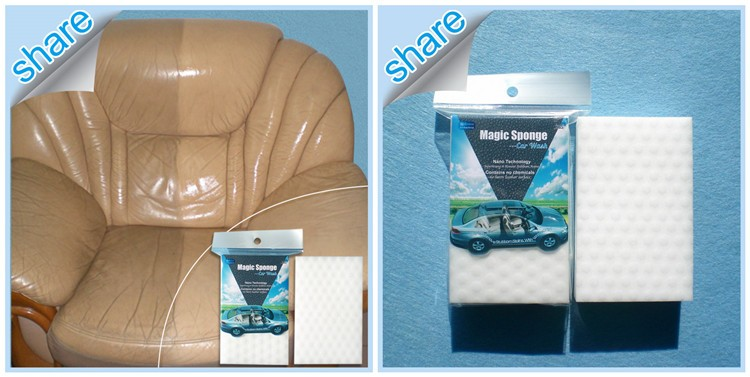 Nanotechnology Magic Melamine Cleaning Sponge Foam for Leather